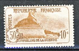 Francia 1926-27 Pro Orfani Di Guerra Y&T Sn. 230 C. 50 + 10 Bruno Scuro E Bruno MNH - Ungebraucht