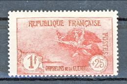 Francia 1926-27 Pro Orfani Di Guerra Y&T N. 231 Fr. 1 + 25 Carminio MH - Ungebraucht