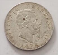 5 LIRE 1878 ROMA ARGENT SILVER POIDS 25 GR   QUALITE - 1861-1946 : Regno