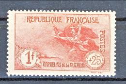 Francia 1926-27 Pro Orfani Di Guerra Y&T N. 231 Fr. 1 + 25 Carminio MLH - Ungebraucht