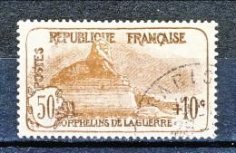 Francia 1926-27 Pro Orfani Di Guerra Y&T Sn. 230 C. 50 + 10 Bruno Scuro E Bruno Usato - Usados