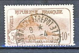 Francia 1926-27 Pro Orfani Di Guerra Y&T Sn. 230 C. 50 + 10 Bruno Scuro E Bruno Usato - Gebraucht