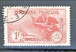 Francia 1926-27 Pro Orfani Di Guerra Y&T N. 231 Fr. 1 + 25 Carminio Usato - Gebraucht