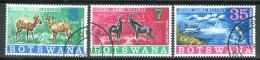 BOTSWANA 1967 - Chobe Game Reserve - 3 Val. Usati / Used (perfetti) Come Da Scansione. - Botswana (1966-...)