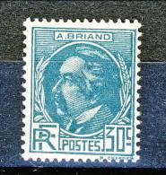 Francia 1933 Celebrità Briand Y&T  N. 291 C. 30 Azzurro Verdastro MNH - Ungebraucht