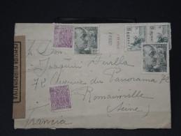 ESPAGNE- LETTRE . DE BARCELONE POUR LA FRANCE  AVEC CENSURE MILITAIRE  1940   LOT P3441 - Marcas De Censura Nacional