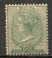 Timbres - Malte - 1885 - 1/2 P. -