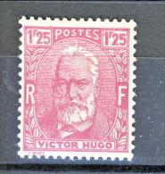 Francia 1933 Celebrità Hugo Y&T  N. 293 Fr 1,25 Lilla Rosa MNH Ben Centrato - Ungebraucht