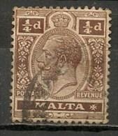 Timbres - Malte - 1907/11 - 1/4 D. -