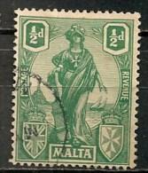 Timbres - Malte - 1922 - 1/2 D. -