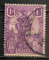 Timbres - Malte - 1922 - 1 D. -