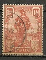 Timbres - Malte - 1922 - 1 1/2 D. -