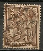 Timbres - Malte - 1926/27 - 1/4 D. -