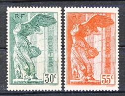 Francia 1937 Vittoria Di Samotracia Y&T Serie N. 354 - 355 MH - Ungebraucht