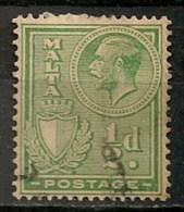 Timbres - Malte - 1926/27 - 1/2 D. -