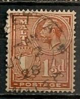 Timbres - Malte - 1926/27 - 1 1/2 D. -