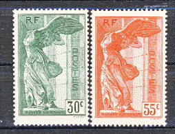 Francia 1937 Vittoria Di Samotracia Y&T Serie N. 354 - 355 MNH - Francia
