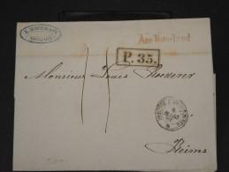 RUSSIE- LETTRE DE MOSCOU  POUR LA REIMS EN 1860   LETTRE AVEC TEXTE    LOT P3446 - Briefe U. Dokumente