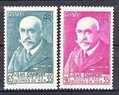 Francia 1938-39 Pro Società Opere Di Mare. Charcot Y&T Serie N. 377 - 377A MNH - Francia