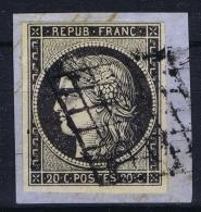 France: 1849 Yv Nr 3 Used Obl - 1849-1850 Cérès