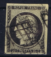 France: 1849 Yv Nr 3 Used Obl  Chamois - 1849-1850 Ceres