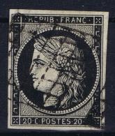 France: 1849 Yv Nr 3 Used Obl - 1849-1850 Ceres