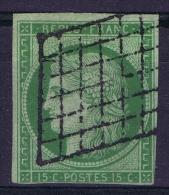 France: 1850 Yv Nr 2 Used Obl Signed/ Signé/signiert/ Approvato - 1849-1850 Cérès