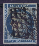 France: 1850 Yv Nr 4 Used Obl Signed/ Signé/signiert/ Approvato - 1849-1850 Ceres