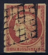 France: 1849 Yv Nr 6 Used Obl    Light Surface Damage At Right Bottom Corner A Small Line - 1849-1850 Cérès