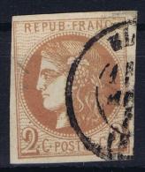 France: 1870 Yv Nr 40 B Used Obl - 1870 Uitgave Van Bordeaux