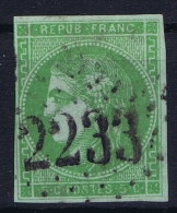 France: 1870 Yv Nr 42 B Used Obl   Signed/ Signé/signiert/ Approvato - 1870 Uitgave Van Bordeaux