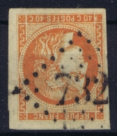 France: 1870 Yv Nr 48   Used Obl  Thin Spot At Hinge - 1870 Emission De Bordeaux