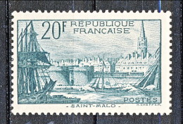 Francia 1938 Porto Di S. Malo Y&T N. 394 Fr. 20 Verde Scuro MNH - Francia