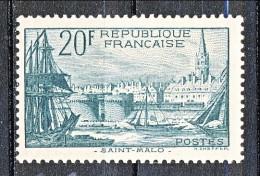 Francia 1938 Porto Di S. Malo Y&T N. 394 Fr. 20 Verde Scuro MNH - Ungebraucht