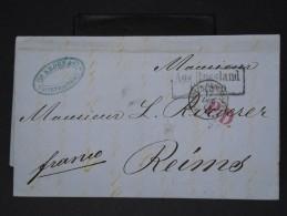 RUSSIE - LETTRE DE ST PETERSBOURG   POUR LA REIMS EN 1864    LETTRE AVEC TEXTE    LOT P3448 - 1857-1916 Imperium