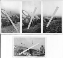 Verdun Soldats Et Officier à Cheval Du 96ème R.I  Devant Un SPAD Avion Français Abattu 4 Photos 1914-1918 14-18 Ww1 Wk1 - War, Military