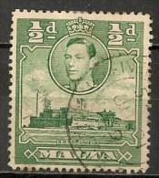 Timbres - Malte - 1938 - 1/2 D. -