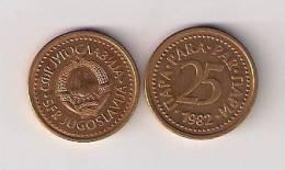 Yugoslavia 25 Para 1982. UNC  KM#84 - Yugoslavia