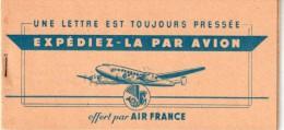 FRANCE : PA . CARNET AIR FRANCE . 1949 . AVEC 34 VIGNETTES PA, AO , ET DOUANES . TB . - Airmail