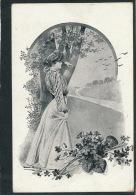 FEMMES - FRAU - LADY - Jolie Carte Fantaisie Portrait Jeune Femme  Signée BRUENING - Bruening, Max