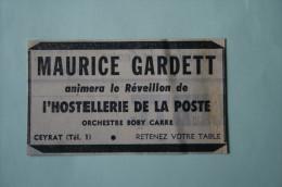 Pub 1960   Hostellerie De La Poste CEYRAT Puy De Dôme 63 - Publicidad