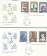 VATICANO - FDC  -  1961  - 2  BUSTE - FDC