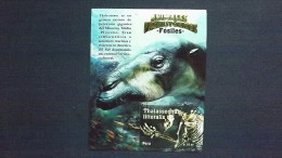 Peru 2485 Block 70 **/mnh, Skelett Eines Thalassochus Littoralis (Miozän Und Pliozän) - Peru