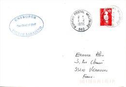 FRANCE. Enveloppe Du Bureau Postal Militaire 660/UNPROFOR Sector Sarajevo. - Postmark Collection (Covers)