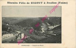89. AVALLON . Cousin Le Pont .  CPA Biscuits FELIX DE RAZOUT - Avallon