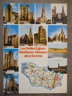 CARTE GEO. LES BELLES EGLISES DE LA SOMME  . ANNEES 1970-80 - Cartes Géographiques