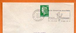 94 CHARENTON LE PONT   SERVICE D'URGENCE VETERINAIRE   10 / 8 / 1970 Lettre Entière N° L 519 - Mechanische Stempels (reclame)