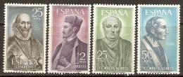 1966 EDIFIL 1705/8 **  SIN FIJASELLOS - 1931-Hoy: 2ª República - ... Juan Carlos I