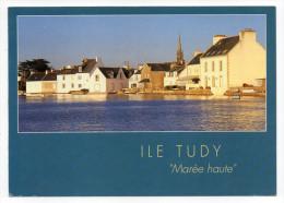 """ILE TUDY--1994--""""Marée Haute""""--Grande Marée à L'Ile Tudy,cpm N°9-6923 éd Jos--cachet """"Fête Des Brodeuses-Pont L'Abbé"""" - Ile Tudy"""