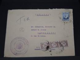 ESPAGNE - ENVELOPPE  DE MADRID AVEC CENSURE POUR LA BELGIQUE TAXEE   EN  1936  A ETUDIER A VOIR  LOT P3469 - Marcas De Censura Nacional